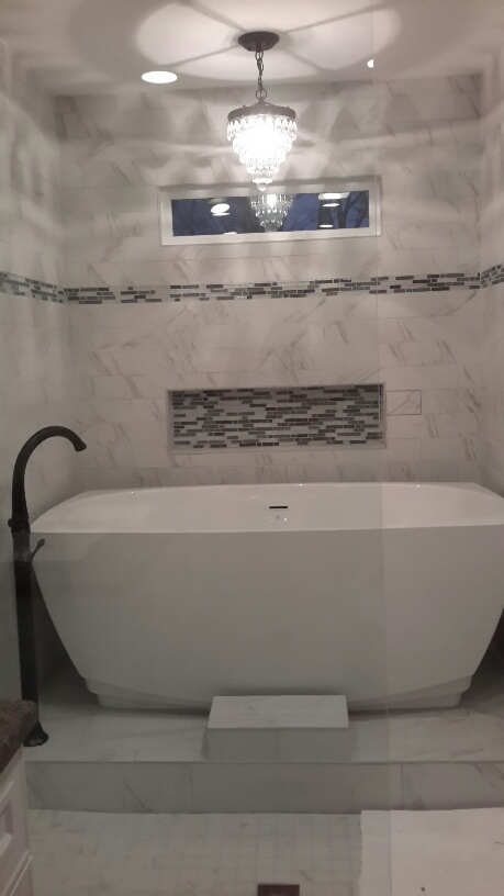 Custom Shower/tub room