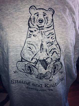 Sit and Knit Bear T-shirt
