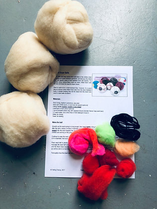 Knit Kit 4: Felted Dryer Ball