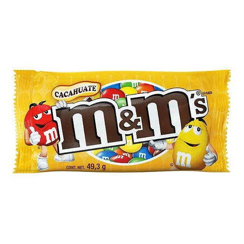 CHOCOLATE M&M'S CACAHUATE