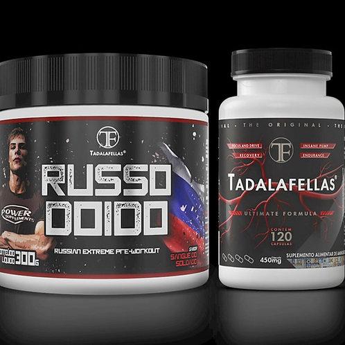 Kit pré treino Tadalafellas + Russo Doido