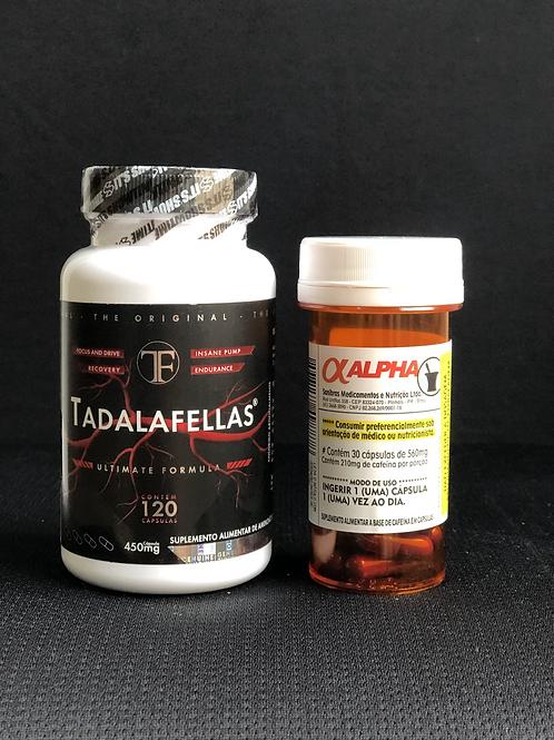Combo Tadalafellas + Alpha Axcell Cafeína mutante