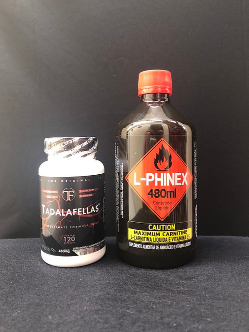 Kit Tadalafellas + L-Carnitina líquida sabor abacaxi frasco 480 ml