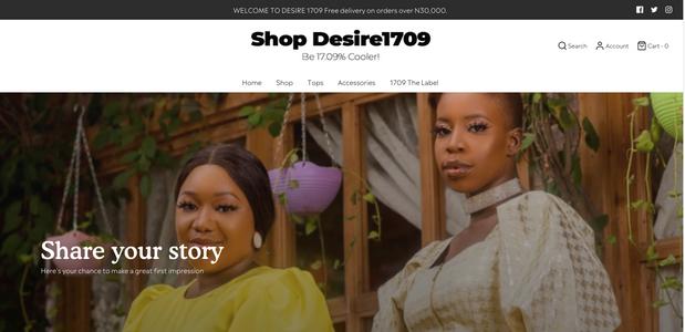 Shop Desire 1709