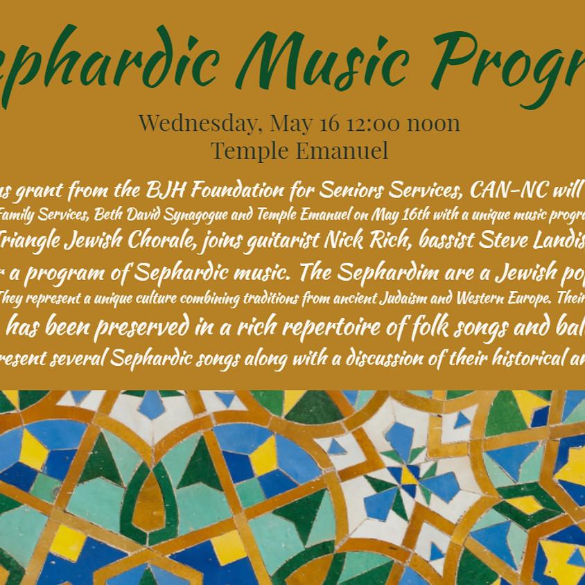 Sephardic Music Program