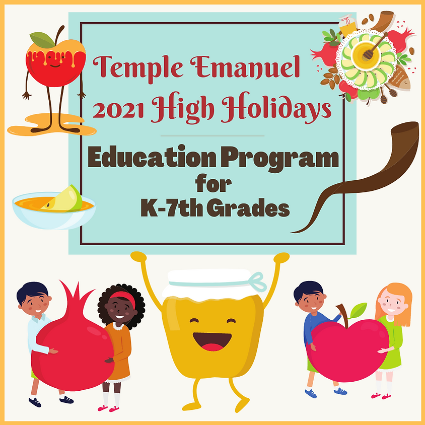 High Holiday Education Program for kids in K-7th Grades