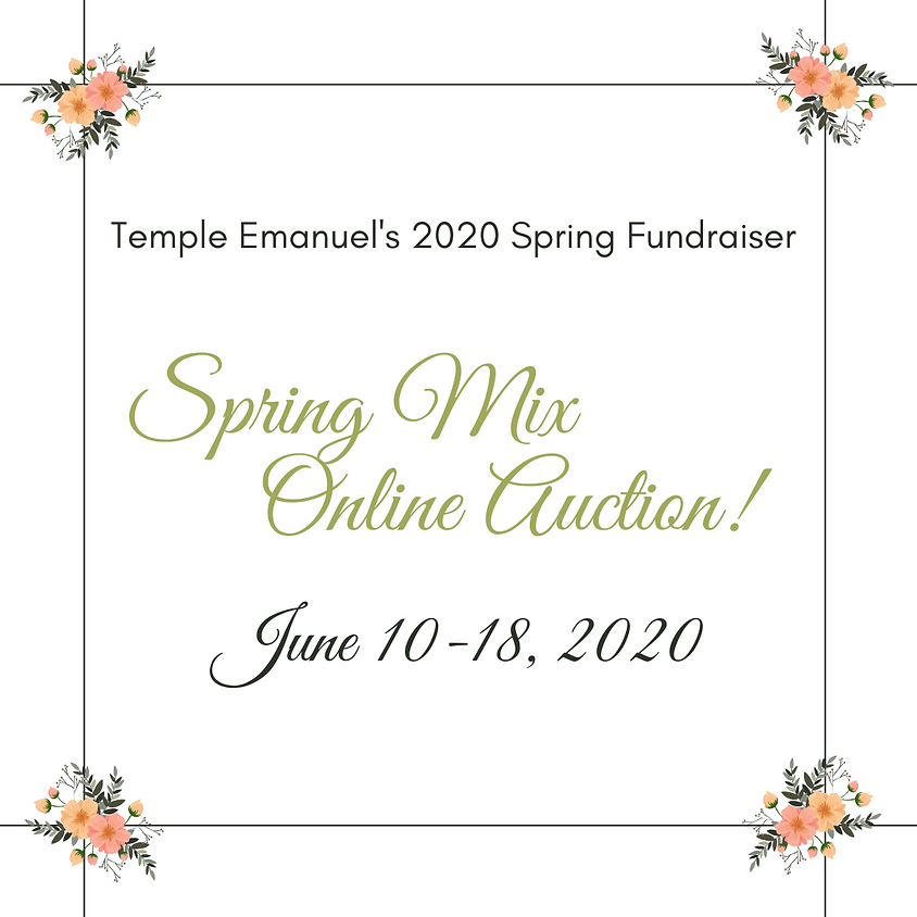 Temple Emanuel's 2020 Spring Mix Fundraiser