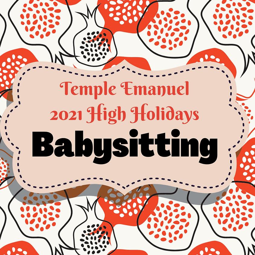 TE 2021 High Holidays - Babysitting