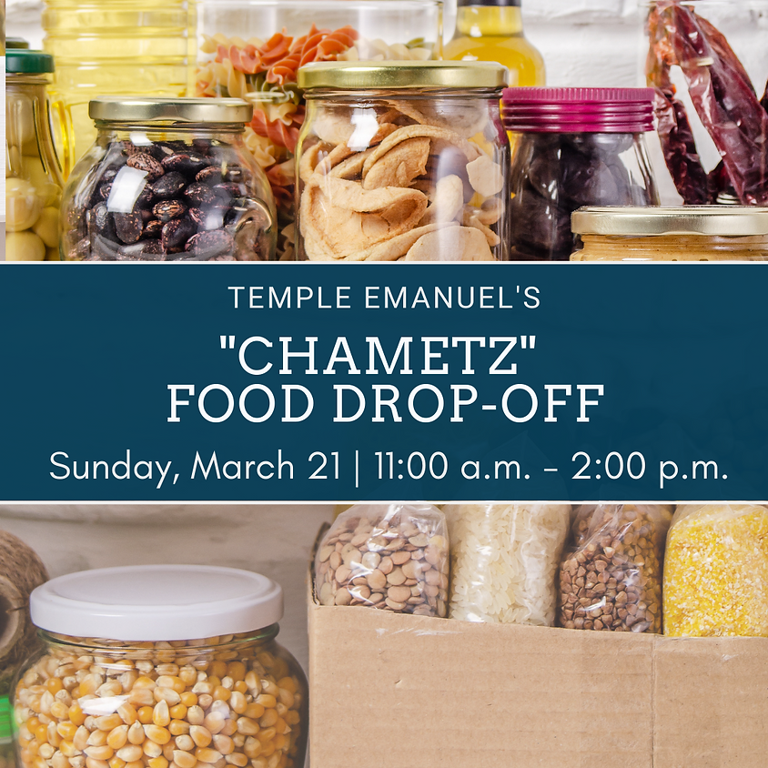 """Chametz"" Food Drop-Off"