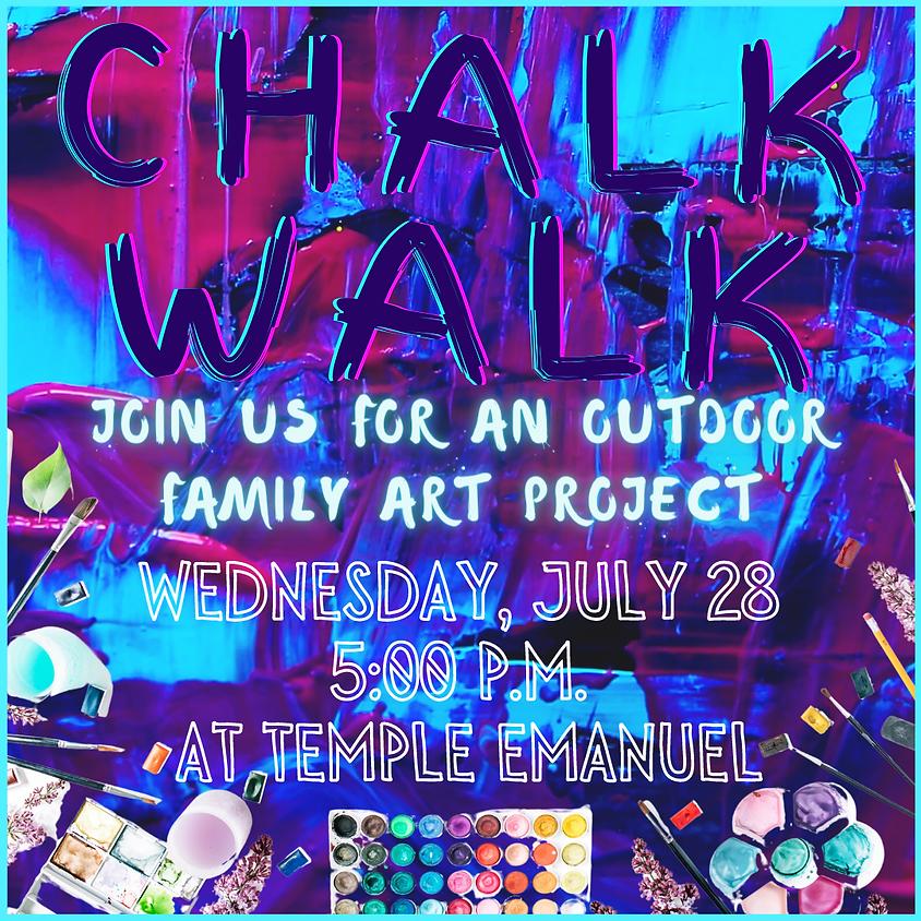 Chalk Walk Art Project
