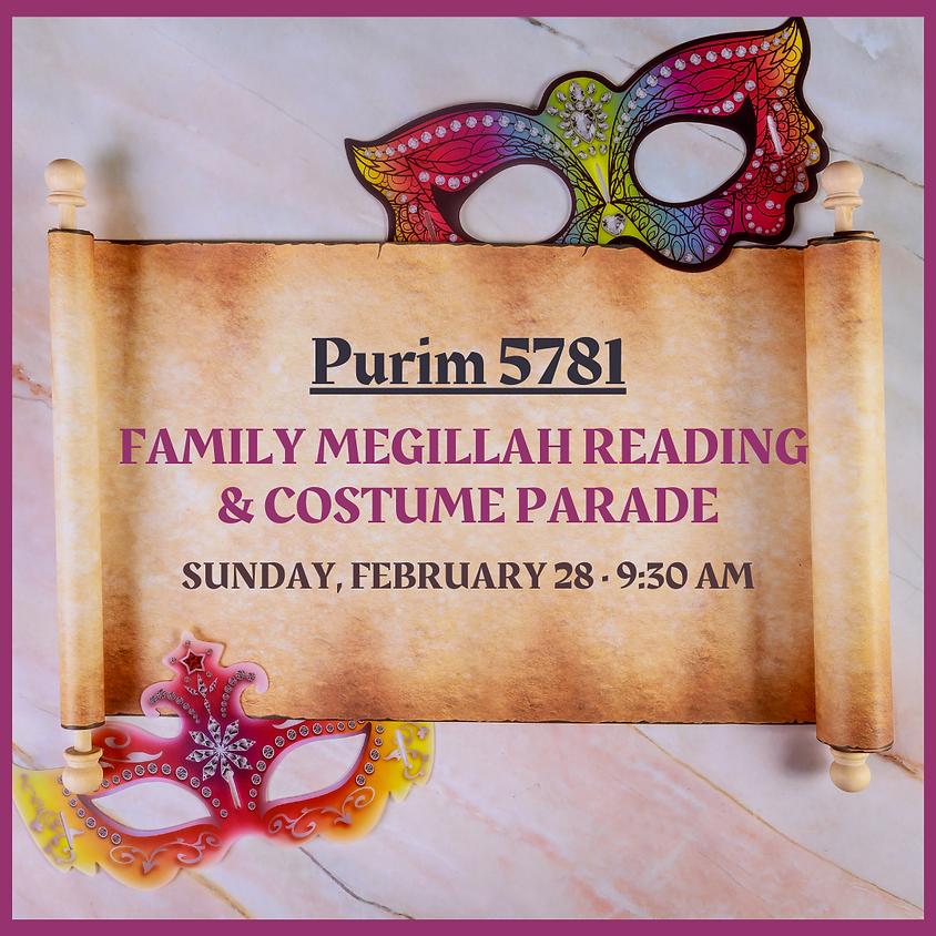 Family Megillah Reading & Costume Parade
