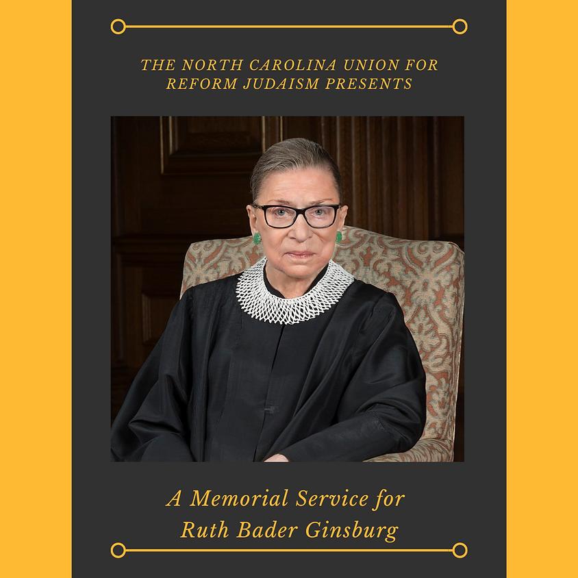 A Memorial Service for Ruth Bader Ginsburg