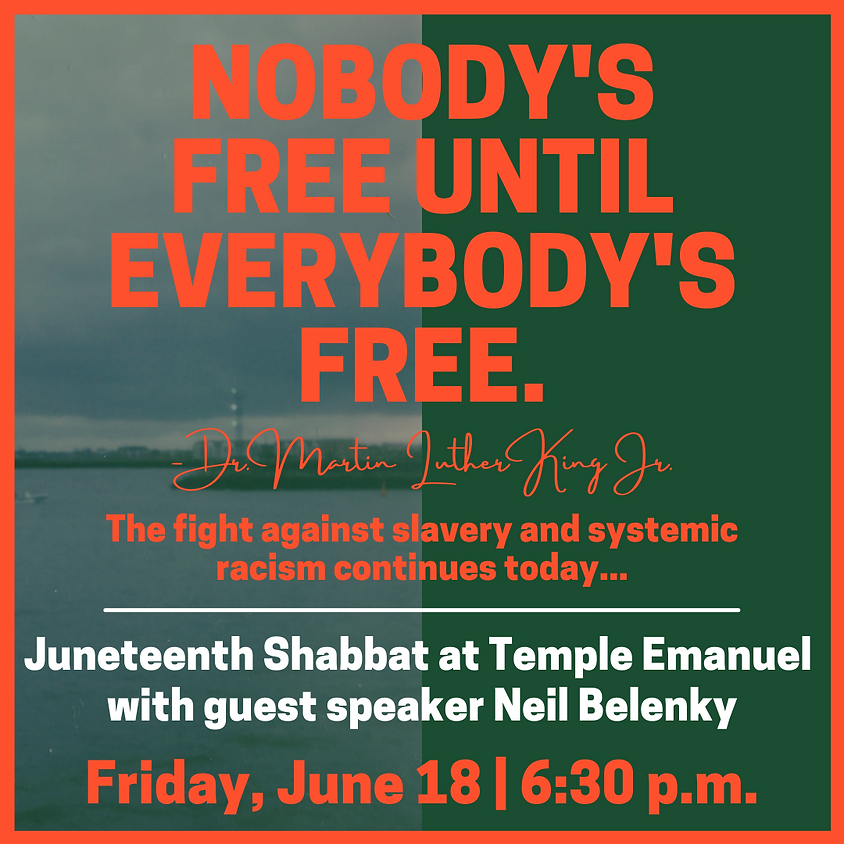 Juneteenth Shabbat Service