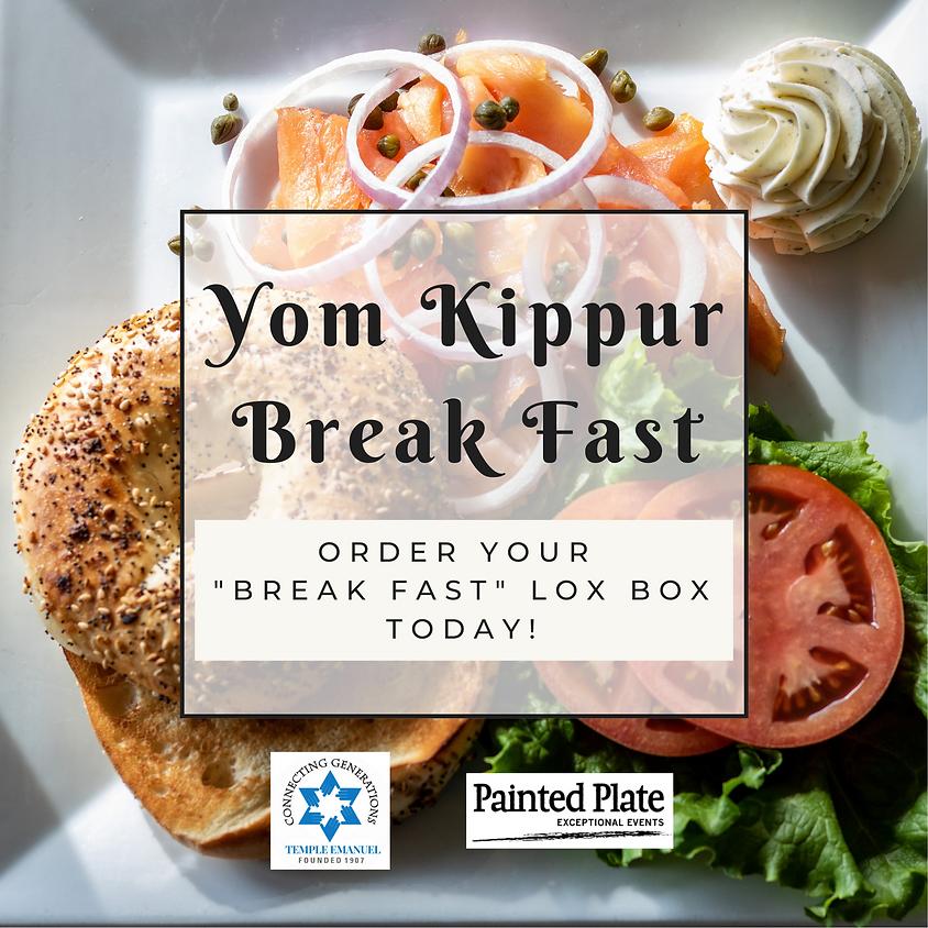 "Yom Kippur ""Break Fast"" Lox Box"