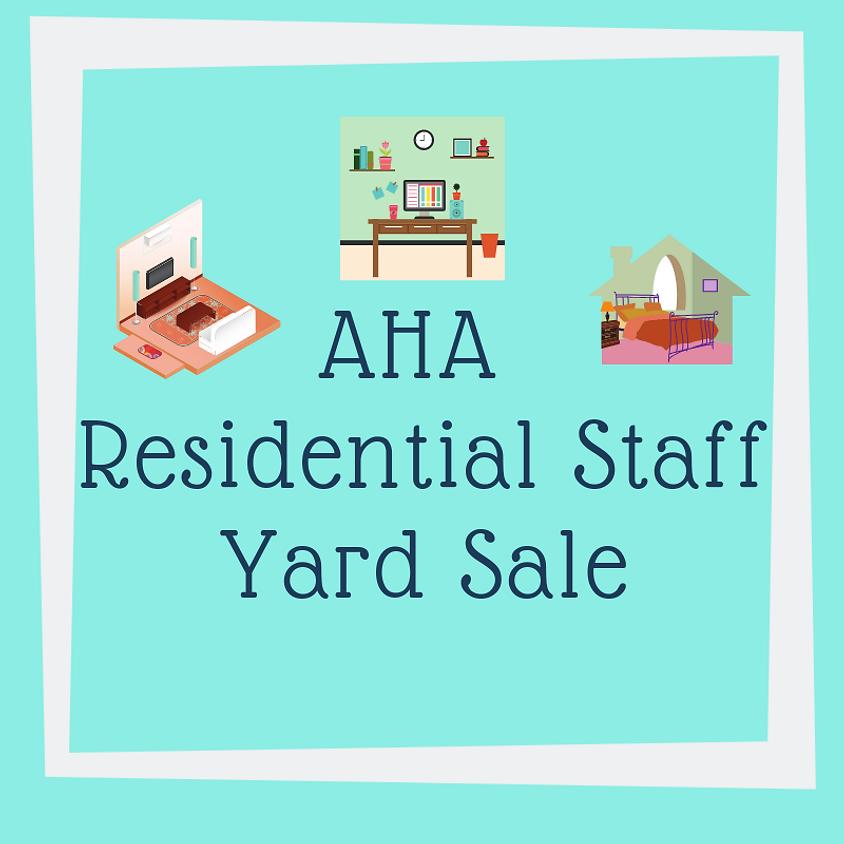 AHA Residential Staff Yard Sale