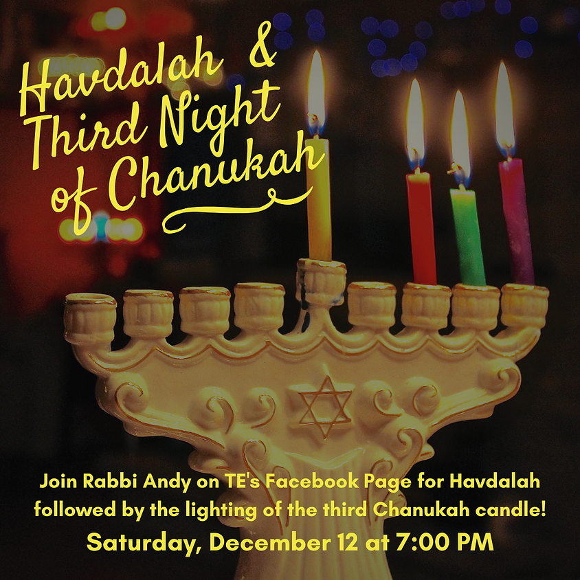 Havdalah with Rabbi Andy