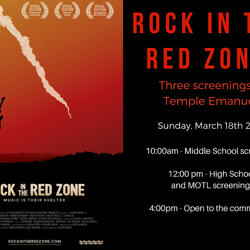 Rock in the Red Zone Screening