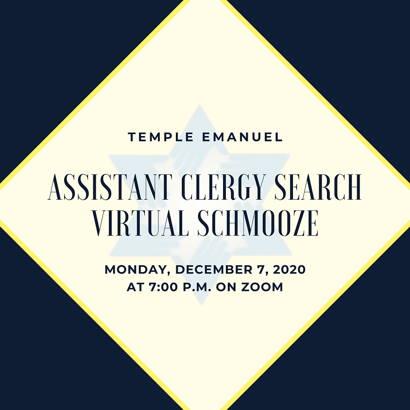 Assistant Clergy Search Virtual Schmooze