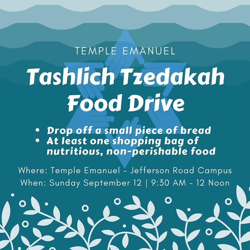 Tashlich Tzedakah Food Drive