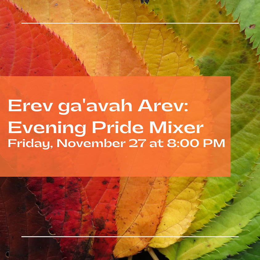 Erev ga'avah Arev (Evening Pride Mixer)