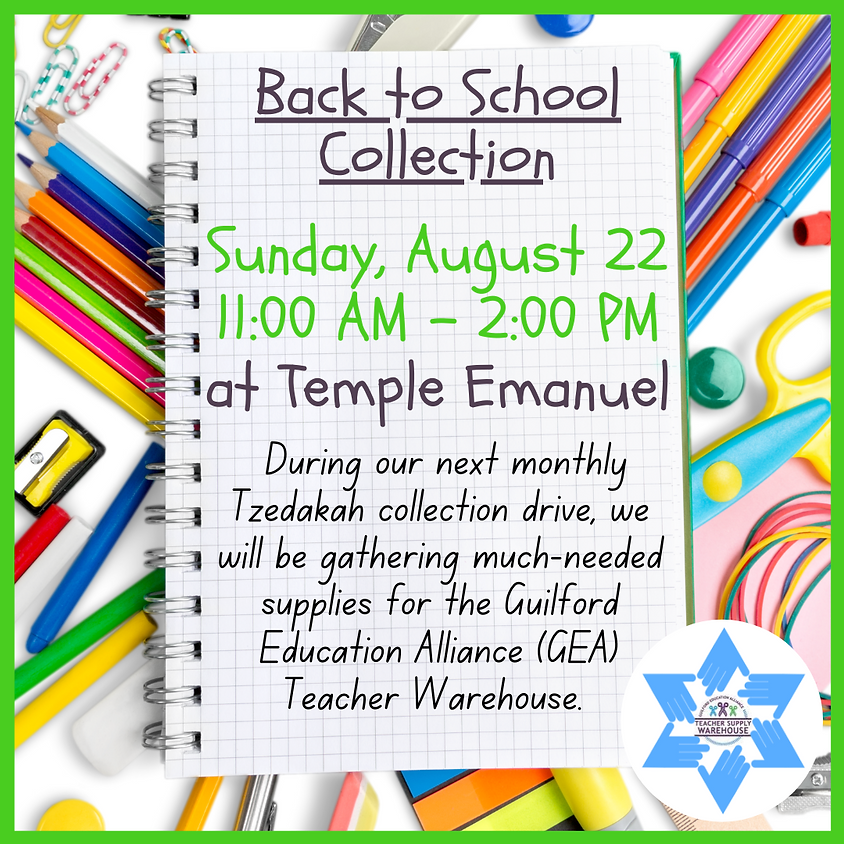 Back to School Collection Drive-Thru