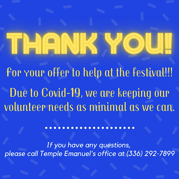 Thank you for supporting the festival! (