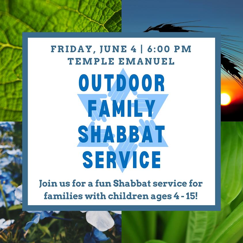 Outdoor Family Shabbat Service