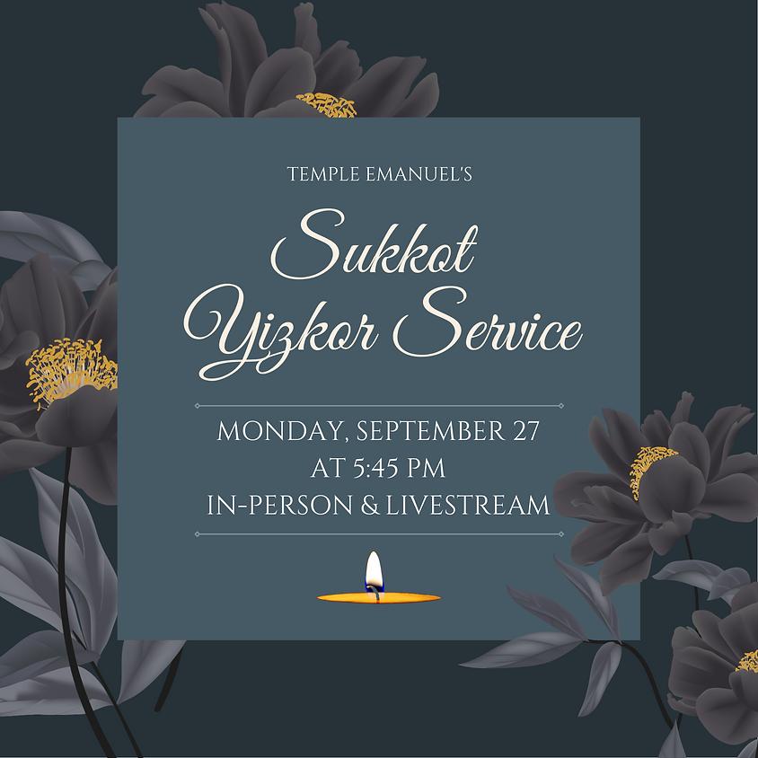 Sukkot Yizkor Service