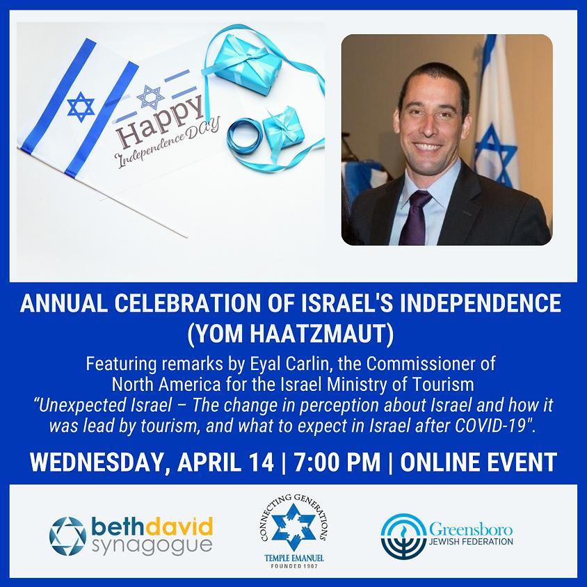 Annual Celebration of Israel's Independence (Yom HaAtzmaut)