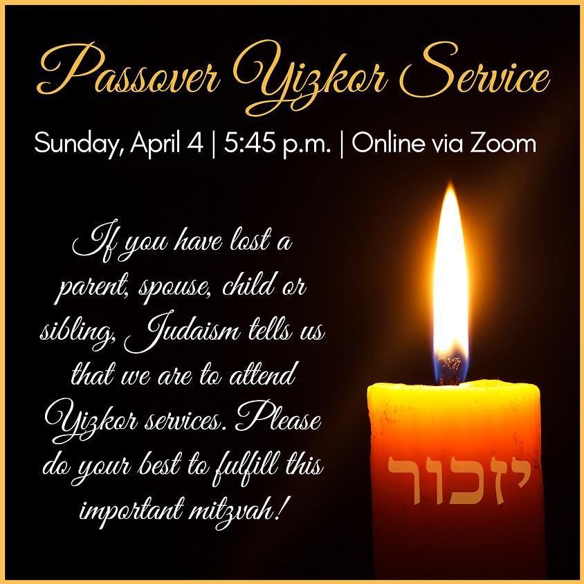 Passover Yizkor Service