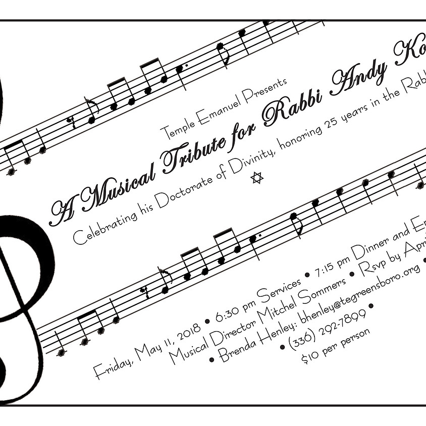 A Musical Tribute for Rabbi Andy!
