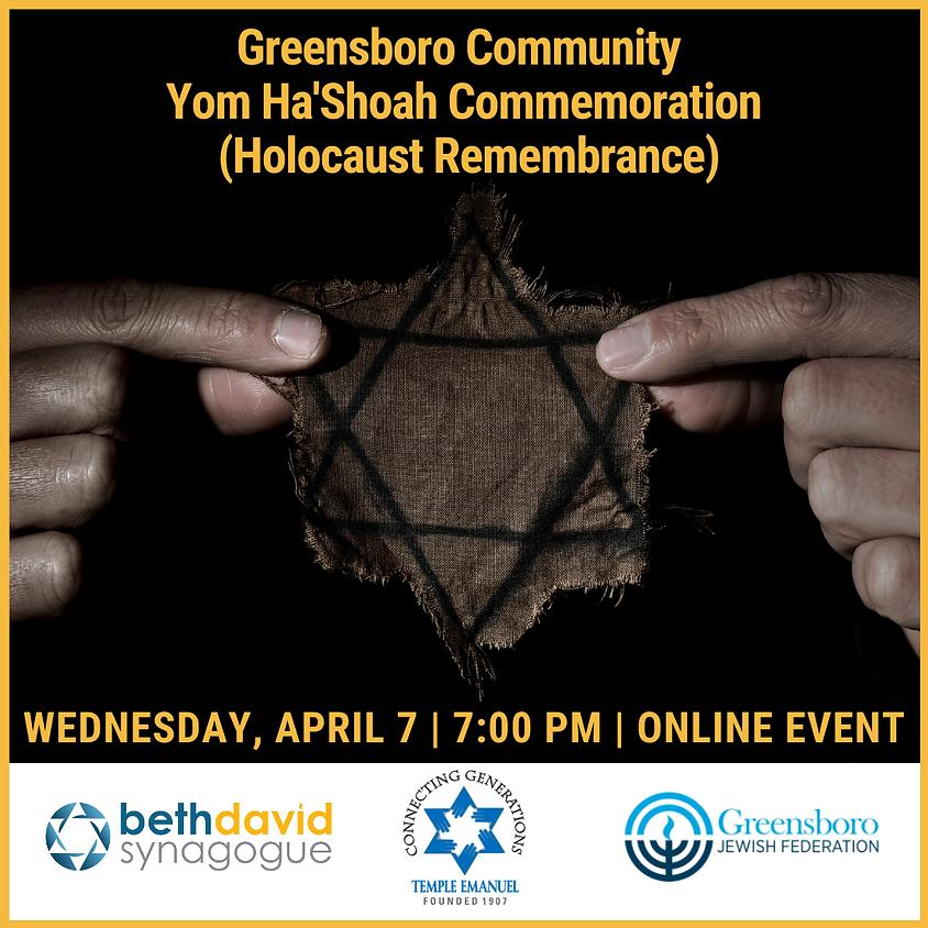 Greensboro Community Yom Ha'Shoah Commemoration