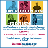 A multi-week course on the basics of Judaism for anyone who wants to gain a deeper underst