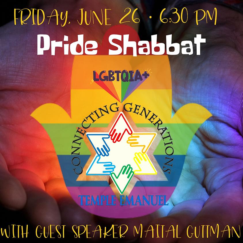 PRIDE Shabbat Service w/ guest speaker Maital Guttman