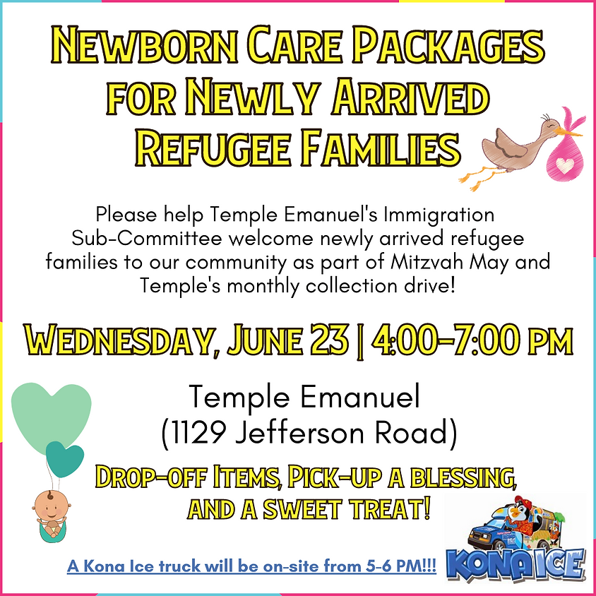 Collection Drive: Newborn Care Packages for Newly Arrived Refugee Families