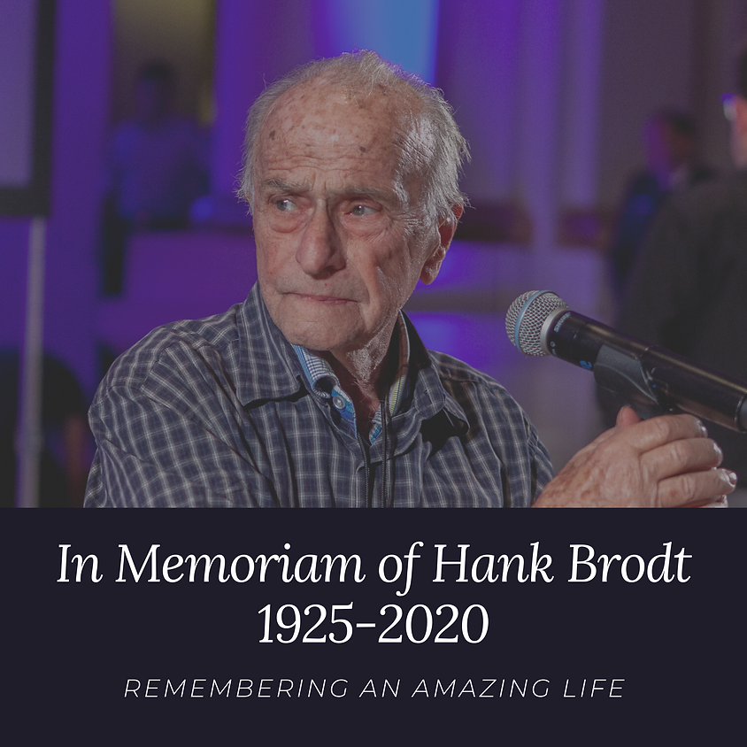Memorial Service for Hank Brodt