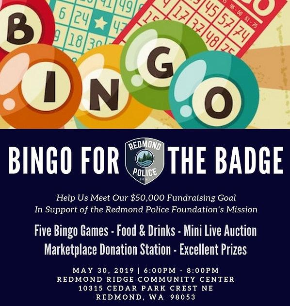 Redmond Police Department, Bingo for the Badge, Redmond Police Foundation