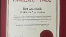 EGRA receives Community Award from RBG