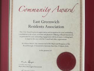 EGRA receives Community Award from RBG