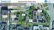 Deptford Walls Project- Thames Path works Spring 2022