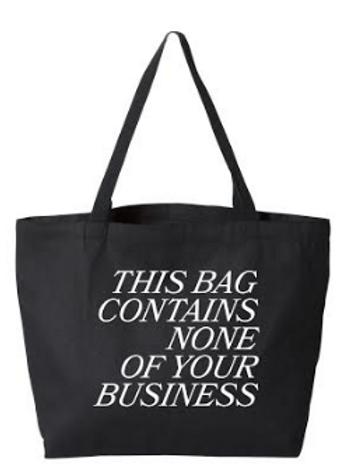 No Business Tote - Black
