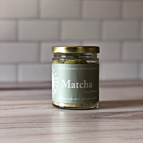 Matcha Adaptogenic Cycle Blend for Tonics Smoothies Lattes