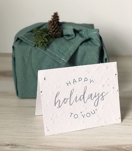 Seeded Happy Holiday Card