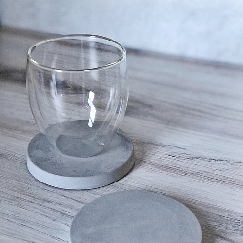 Concrete Coaster Set - Circle