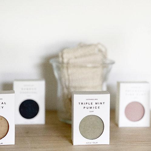 Triple Mint Pumice Vegan Soap