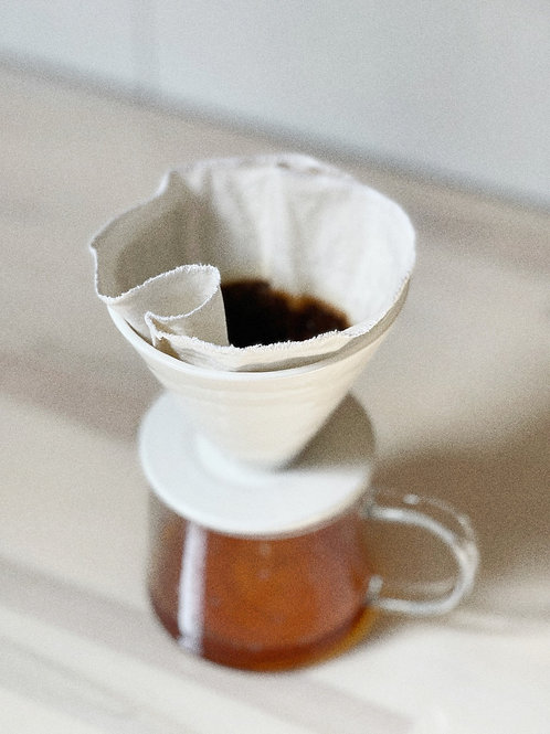 Organic Cotton Pour Over Drip Coffee Filter