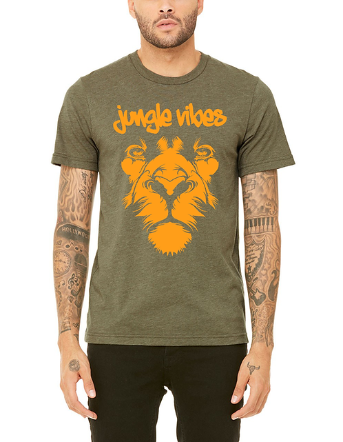 Men's Army Lion Face Tee
