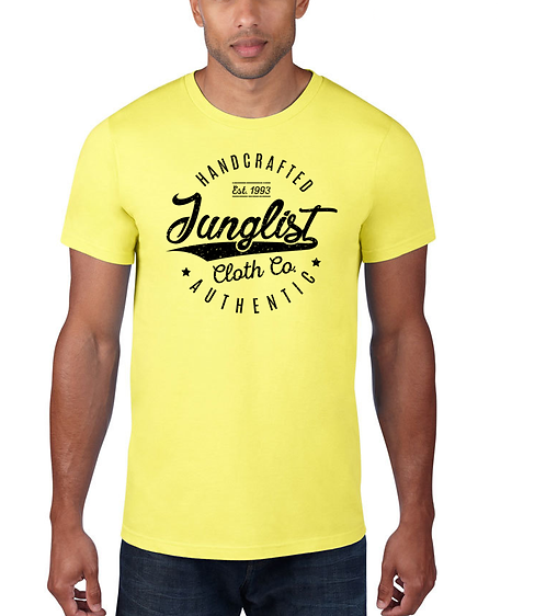 Men's Vintage baseball Yellow Tee