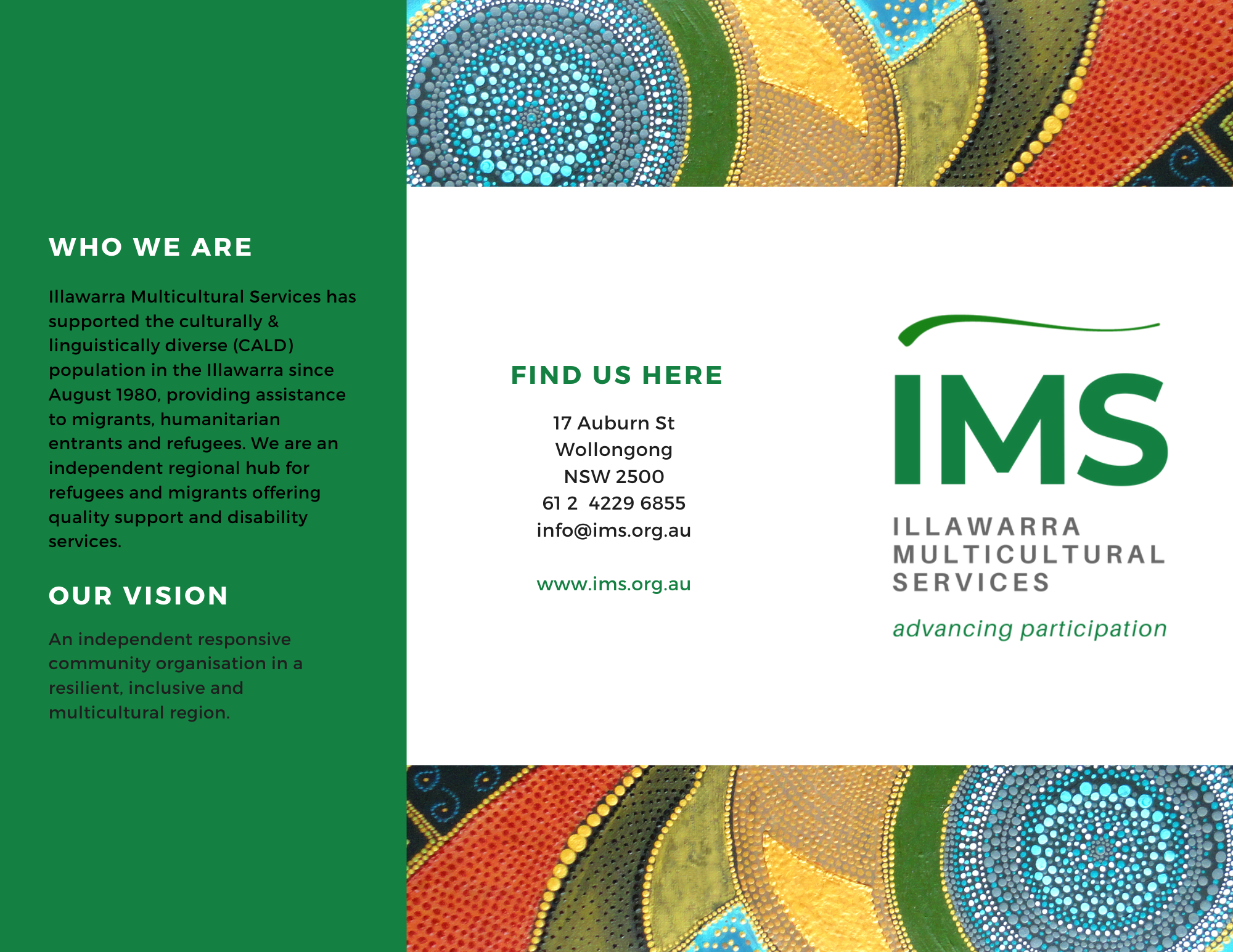 IMS Trifold flyer cover
