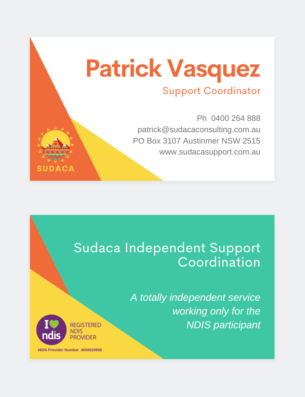 sudaca business cards